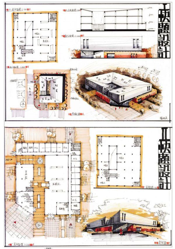 【建築快速設計-@文化中心 展覽館】建築快速設計案例解題-建築計畫與設計-敷地計畫與都市設計