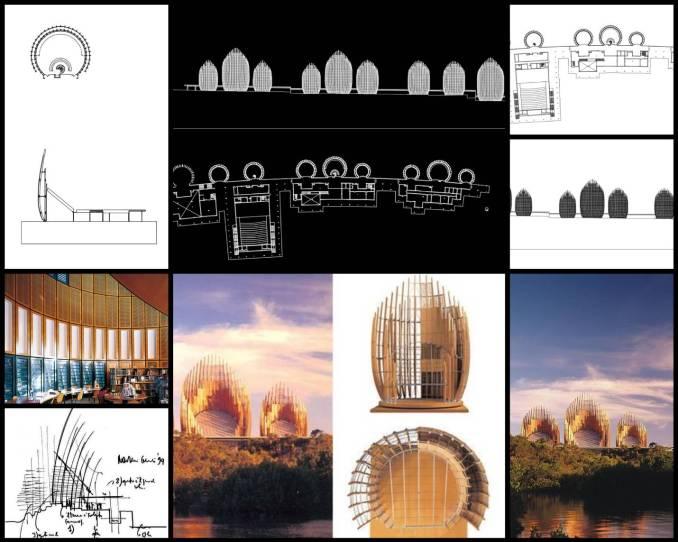 【世界知名建築案例研究CAD設計施工圖】Ji Ba Cultural Center集巴文化中心-倫佐·皮亞諾Renzo Piano