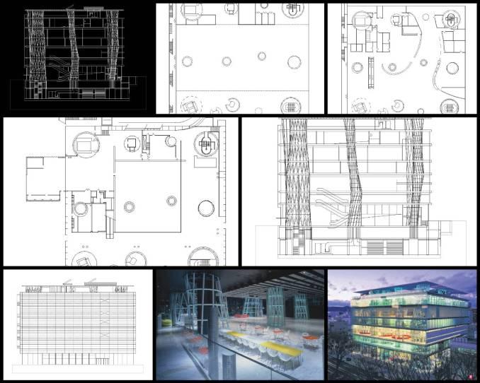 【世界知名建築案例研究CAD設計施工圖】仙台媒體中心Sendai Mediatheque-Toyo Ito伊東豐雄