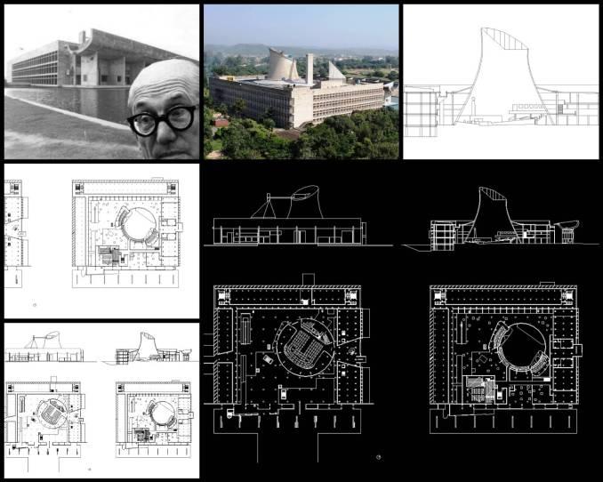 【世界知名建築案例研究CAD設計施工圖】Palace of Assembly議會宮 Le Corbusier勒·柯布西耶