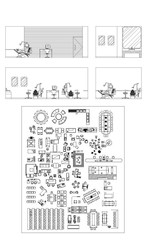 【各類醫療器材CAD圖塊】醫療器材手術室醫院設備CAD圖塊