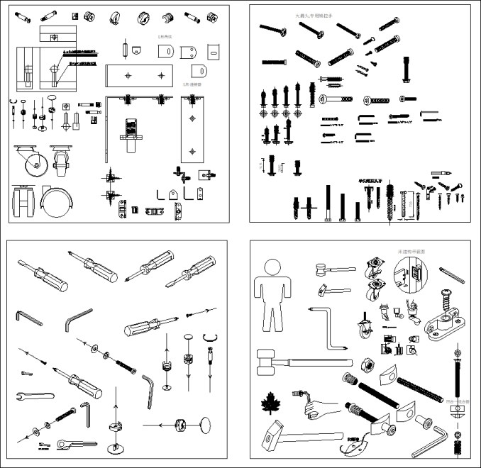 【各類型燈光照明燈具CAD】燈具安裝施工常用CAD細部圖