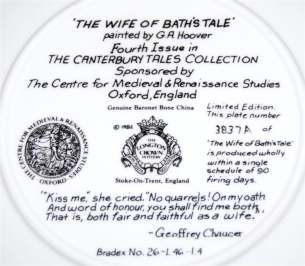 The Wife Of Bath S Tale By G A Hoover Collectors Plate