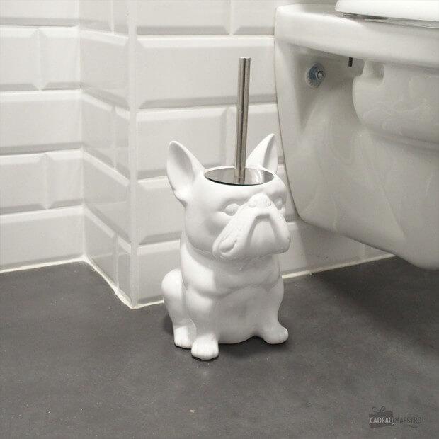 brosse de toilettes bouledogue