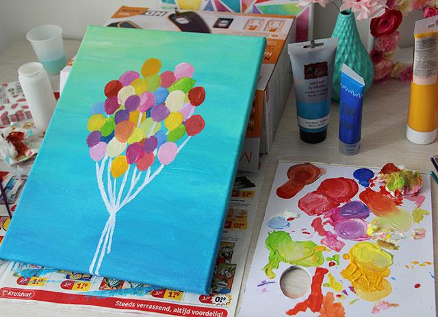 Makkelijk een mooi schilderij maken  Cadeaus maken