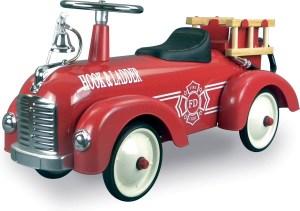 Retro brandweer loopauto
