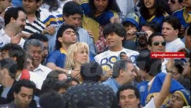 Photo of Carlin Calvo y Maradona, juntos en la popular de Boca