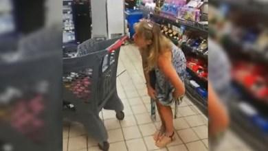 Photo of Se sacó la bombacha y la usó de tapabocas en un supermercado