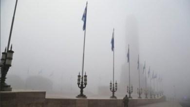 Photo of Bajo una densa niebla, Perotti encabeza el acto por el Día de la Bandera