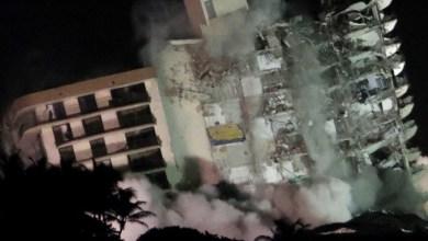 Photo of Demolieron el edificio de Florida con una explosión controlada