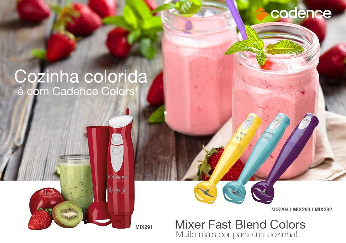 Mixer Cadence Fast Blend Colors Vermelho Cadence
