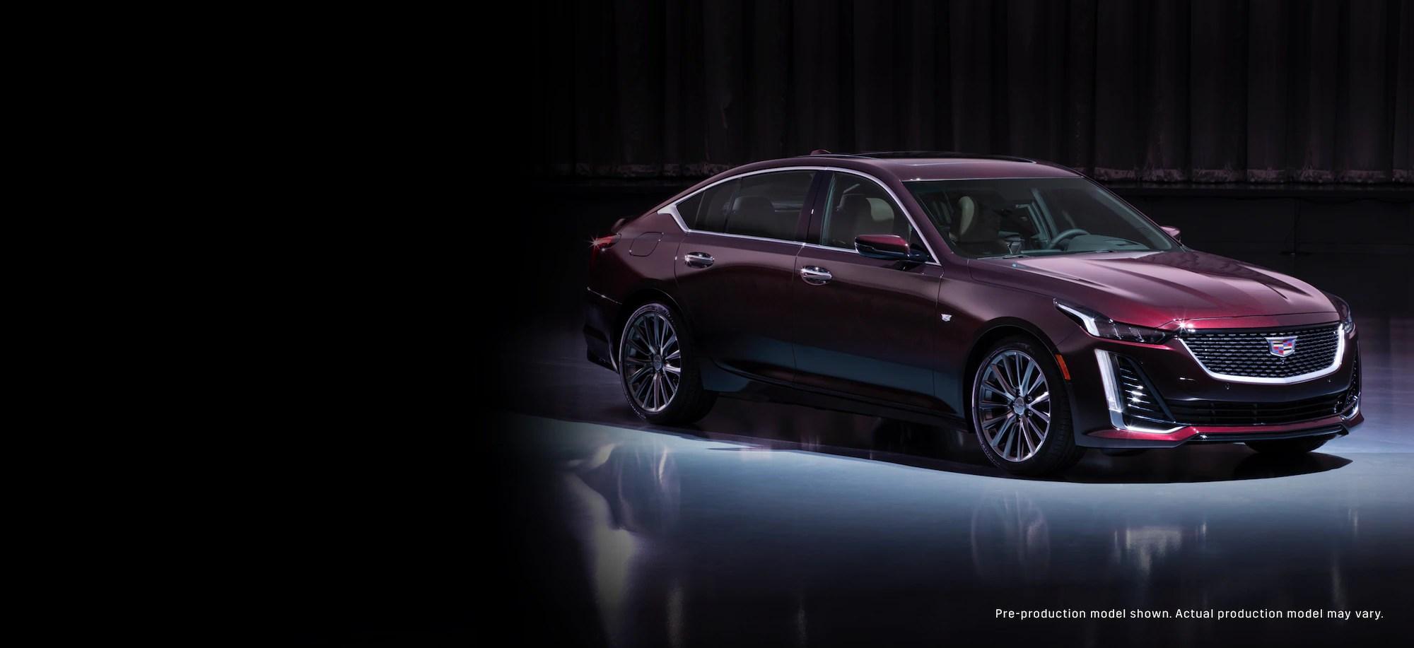 2019 cadillac ct6 sedan front driver side view in satin steel metallic [ 2048 x 939 Pixel ]