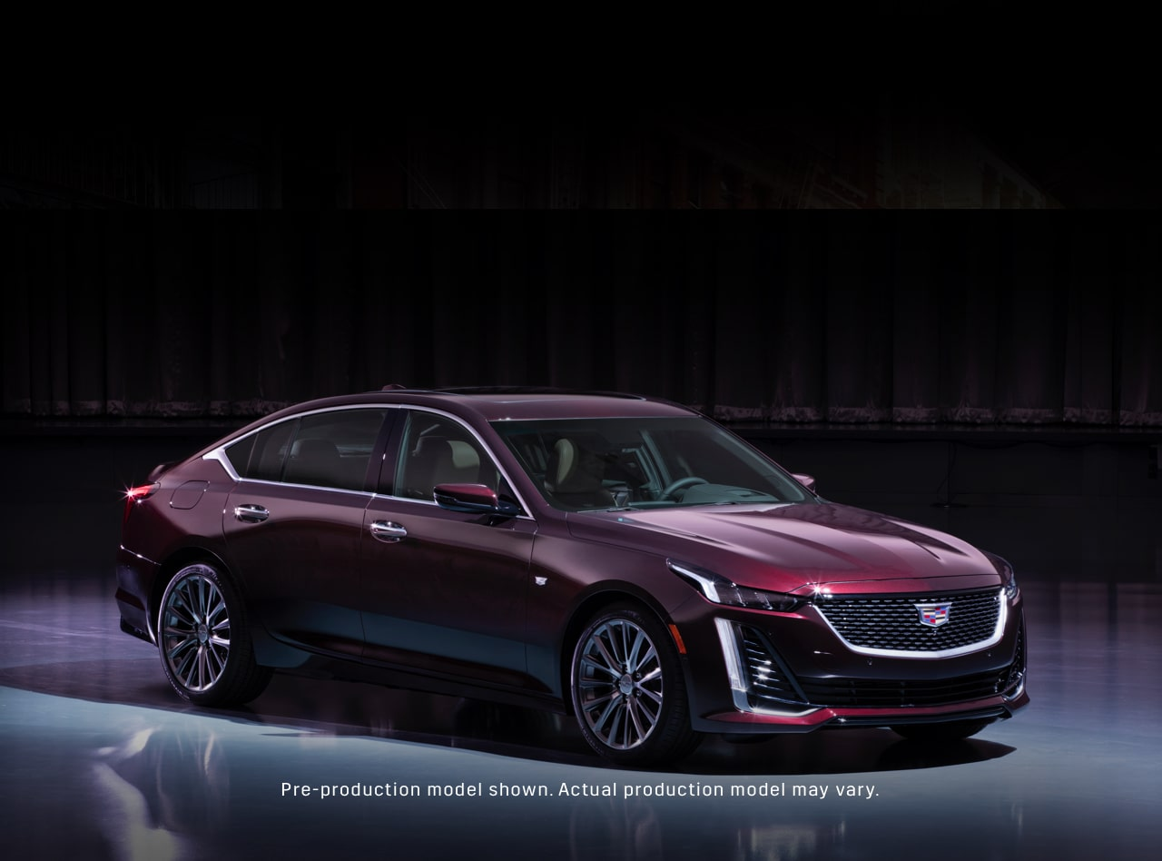 2019 cadillac ct6 sedan front driver side view in satin steel metallic [ 1268 x 939 Pixel ]