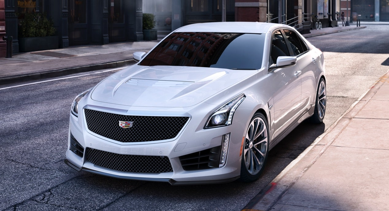 hight resolution of cts v parked on street
