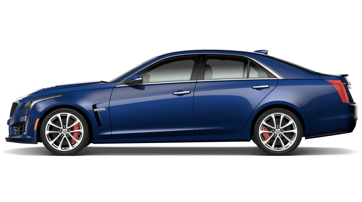 small resolution of 2019 cts v sedan side view