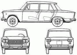 disegno schematico della Fiat 1300/1500