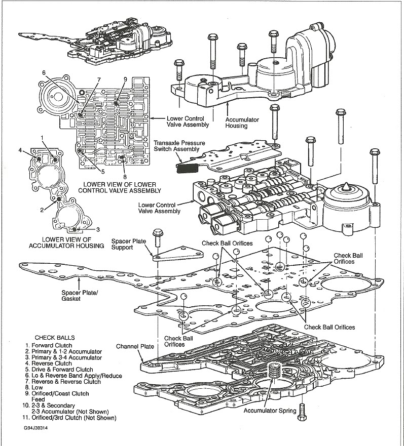 [Exploded View 1995 Cadillac Seville Manual Transmission