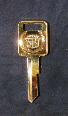 Gold E Key for Cadillac