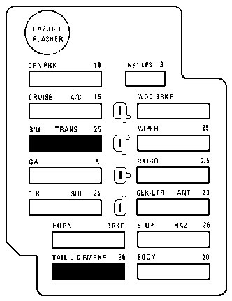 1992 Cadillac Seville Fuse Box Diagram, 1992, Free Engine