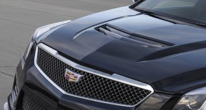 Almost every exterior panel on the 2016 Cadillac ATS-V sedan is unique, from the fascias and fenders, to the hood, rear spoiler and rocker moldings – and every one was designed to support the car's capability. A lightweight carbon fiber hood, front and fascia designed with larger grille openings to feed more air to the new twin-turbocharged engine. Even the mesh pattern of the signature grille openings is enlarged to allow more air into the radiator and multiple heat exchangers.