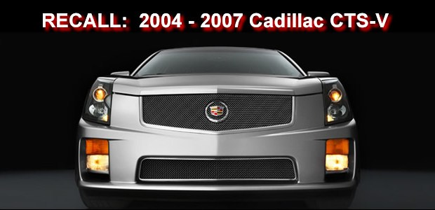 General Motors is recalling 4,907 model year 2004-2007 Cadillac CTS-V vehicles manufactured between September 6, 2003, and June 11, 2007.