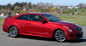 The Cadillac ATS-V shares the basic lines of its less-expensive ATS brethren, but with more muscular trim on the outside and significantly more power and features on the inside. Photograph By BRUCE STOTESBURY, Times Colonist
