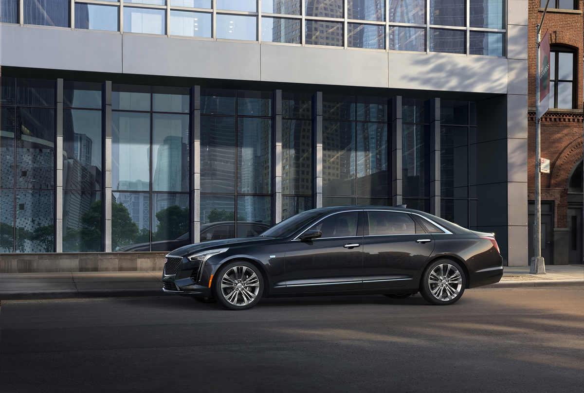 The 2019 Cadillac CT6 Platinum showcases a more aggressive exterior appearance inspired by the Escala Concept and enhanced interior with updated technology and materials.