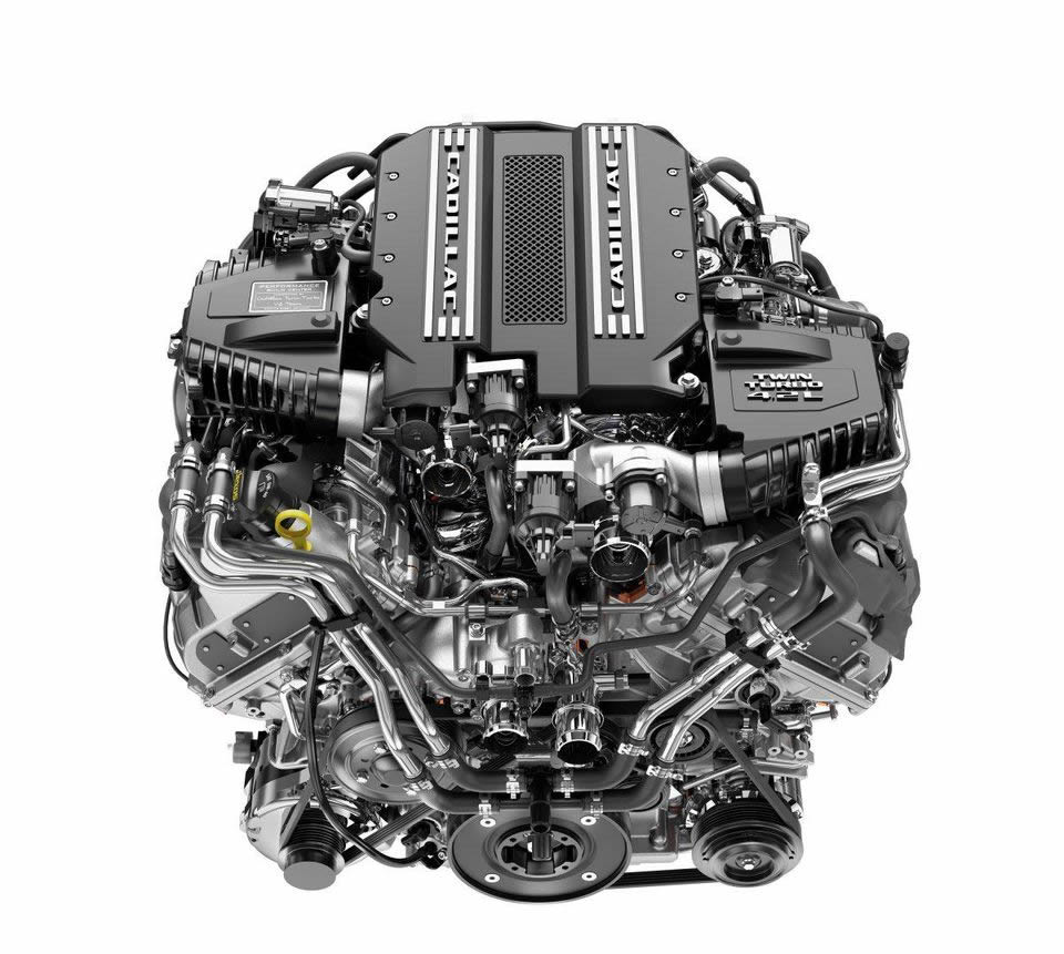The all-new 2019 Cadillac Twin-Turbo V8