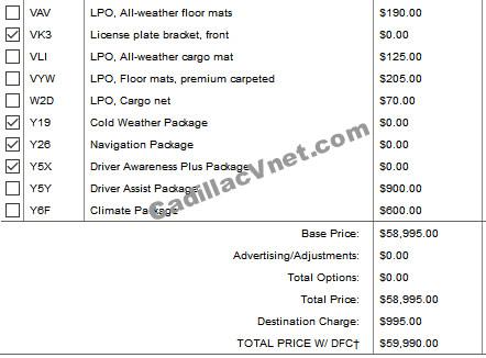 2022 Cadillac CT4-V Blackwing Pricing