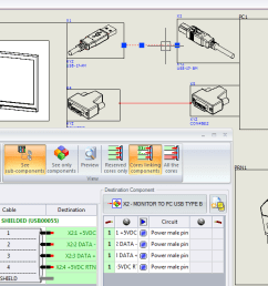 create a single line diagram inside solidworks electrical schematics make sure you have chosen appropriate cable connectors and your cables are fully  [ 1387 x 628 Pixel ]