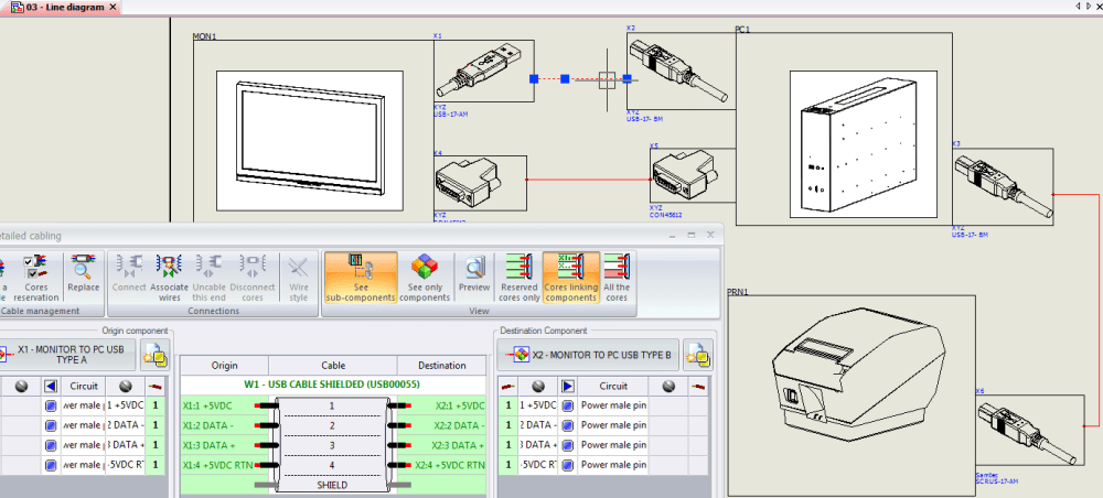 medium resolution of create a single line diagram inside solidworks electrical schematics make sure you have chosen appropriate cable connectors and your cables are fully