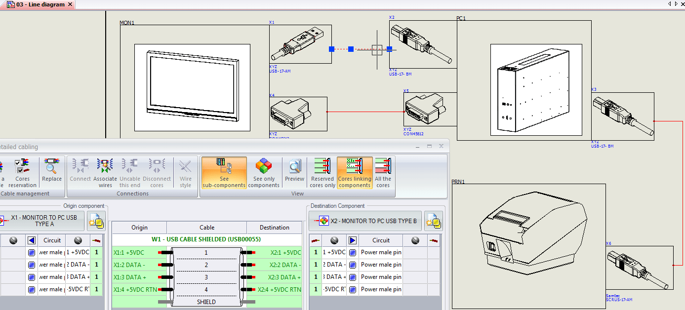 hight resolution of create a single line diagram inside solidworks electrical schematics make sure you have chosen appropriate cable connectors and your cables are fully