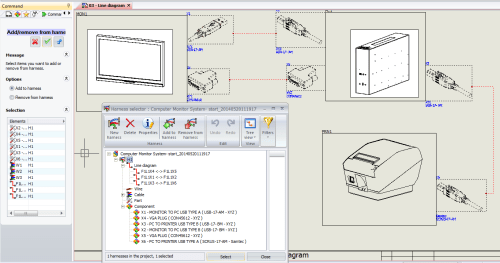 small resolution of add items to a new harness inside solidworks electrical schematics in order to do this you need to ctrl select hold down the control key and