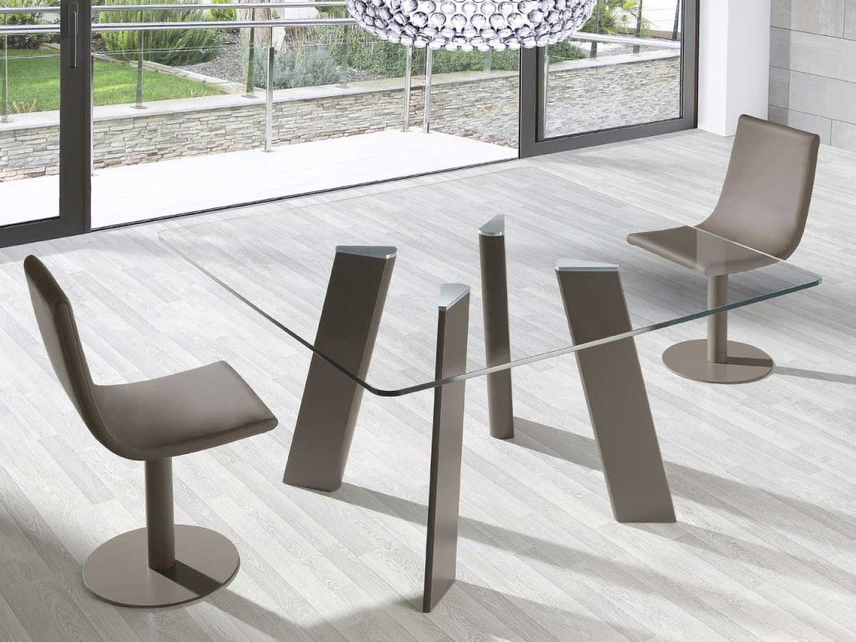 play square glass dining table