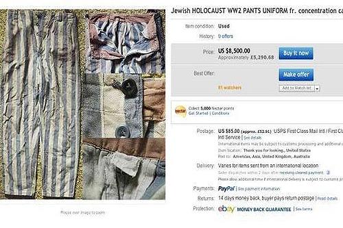 eBay ha retirado de subasta objetos relacionados con el Holocausto
