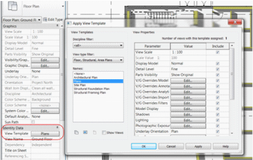 Revit 2013 New Features - View Templates