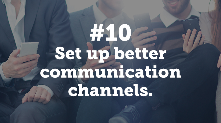 Communication is the number one reason a conference is successful. Make a committment with your colleagues and vendors this year. Keep communication channels open for maximum success.