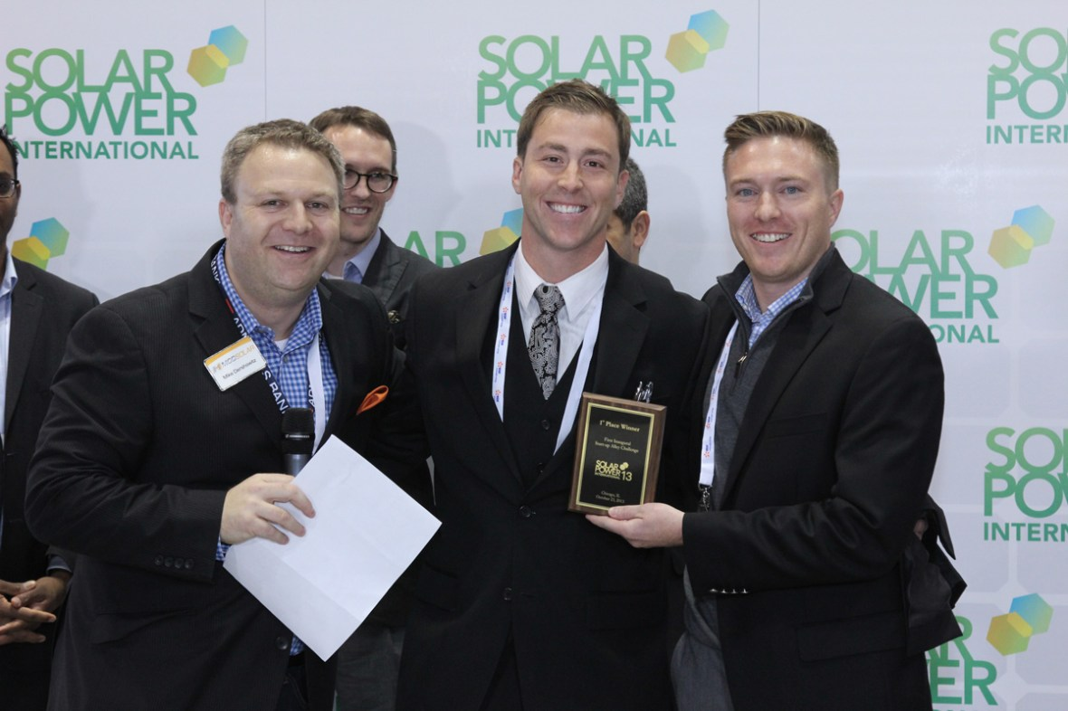 ModSolar, the winners of SPI's 2013 Start Up Alley Challenge. Winners like these go on to win other pretigious solar energy industry awards. CadmiumCD's Abstract Scorecard was used to select the winners.