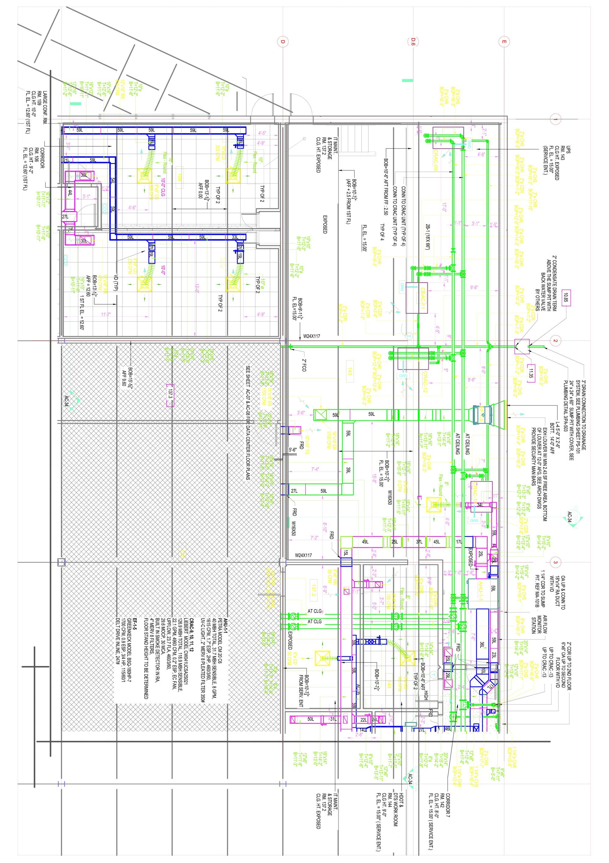 hight resolution of hvac drafting drawing