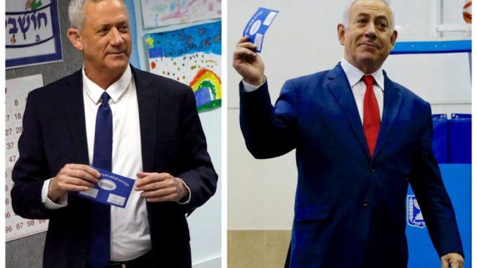 Benny Gantz y Benjamín Netanyahu Foto de archivo: REUTERS/Nir Elias, Ariel Schalit/Pool vía REUTERS