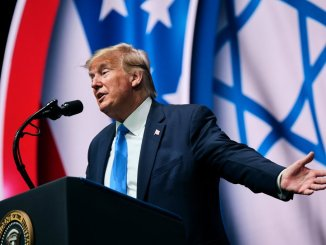 President Trump at the Israeli American Council National Summit last week in Hollywood, Fla.Credit...T.J. Kirkpatrick for The New York Times