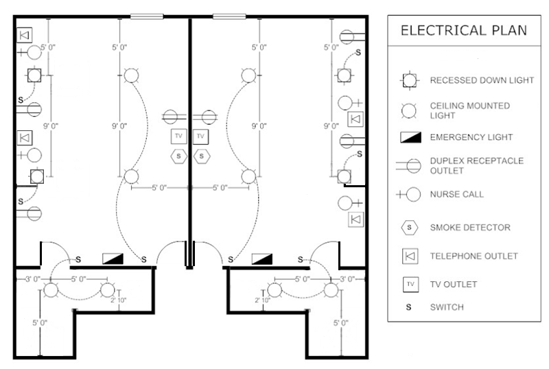 electrical plan hotel