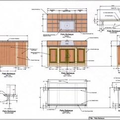 Outdoor Kitchen Design Plans Free Hammered Nickel Sink Plan