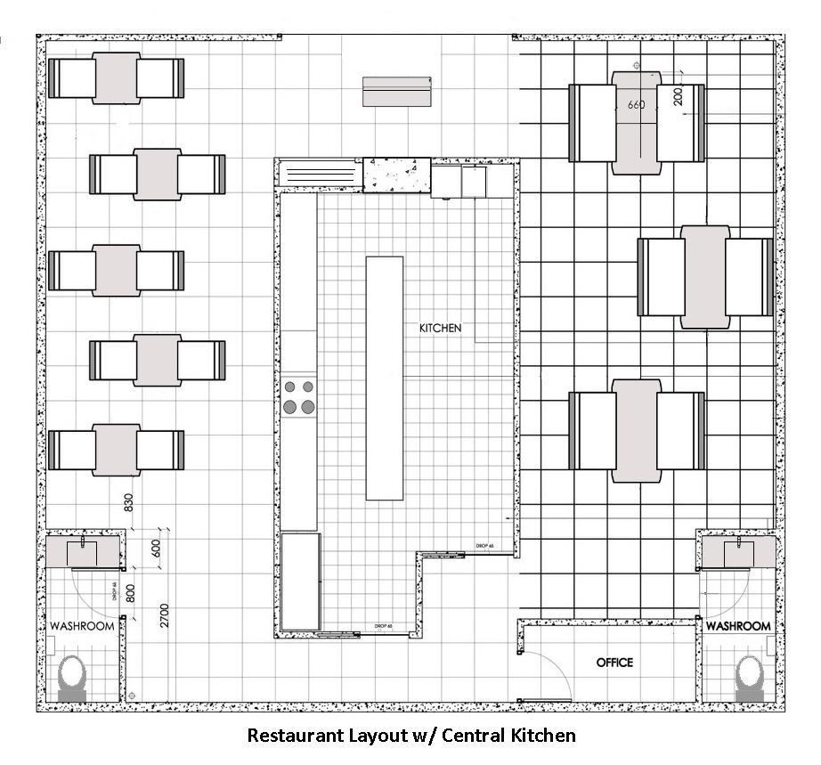 medium resolution of restaurant design software central kitchen restaurant layout