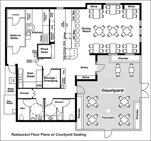 Restaurant Floor Plans Drafting Software  CAD Pro