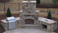 Easy Affordable Outdoor Fireplace Design Plans