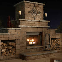 Easy Outdoor Fireplace Design Plans