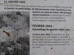 Affiche mémoire 6 - quartier Saint-Jean - Marseille 2e