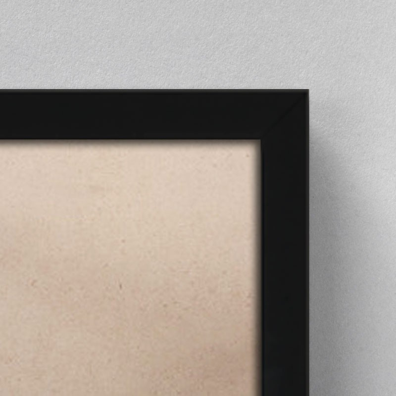 cadre bois noir complet 60x80 cm