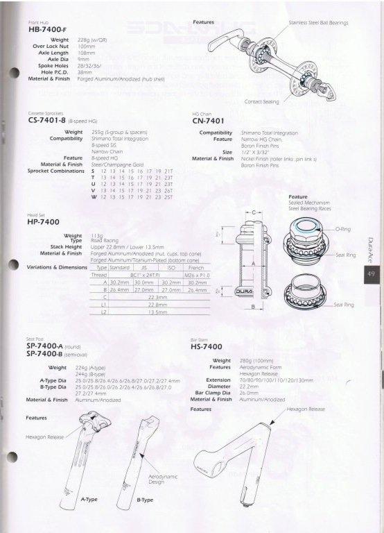 1993 Shimano Catalog ~ tears for gears